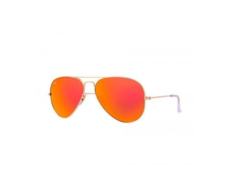 Ray-Ban Aviator Flash Lenses Naranja Flash 55mm lente