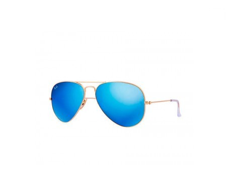 Ray-Ban Aviator Flash Lenses Azul Flash 55mm lente