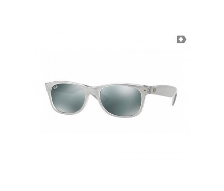 Ray-Ban New Wayfarer Metal Effect Plata Espejada 55mm lente
