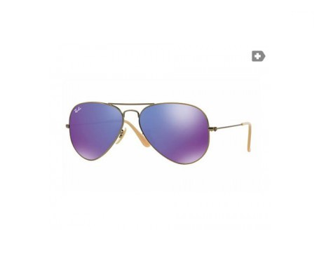 Ray-Ban Aviator Flash Lenses Violeta espejada 58mm lente