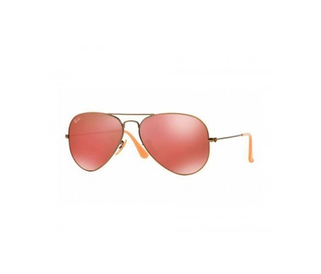 Ray-Ban Aviator Flash Lenses Rojo Espejada 58mm lente