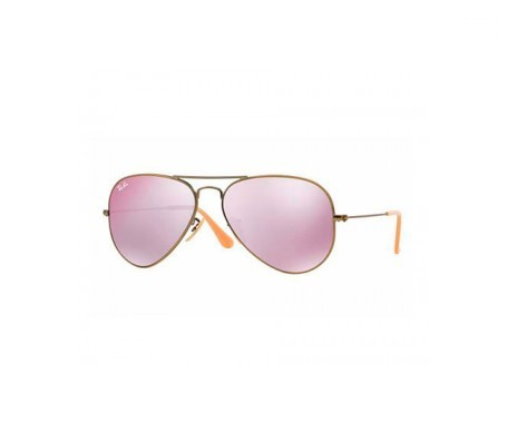 Ray-Ban Aviator Flash Lenses Lila Espejada 55mm lente