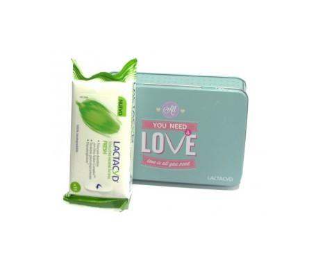 Lactacyd lingettes hygiéniques intimes Fresh 15 pcs + porte lingettes