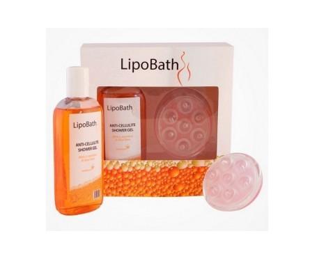 Innoatek Lipobath gel de ducha anticelulítico 250ml + cepillo 1ud