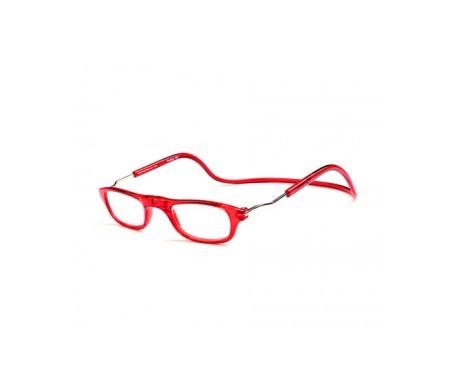 Magnética gafa de lectura +2.50 color rojo 1ud