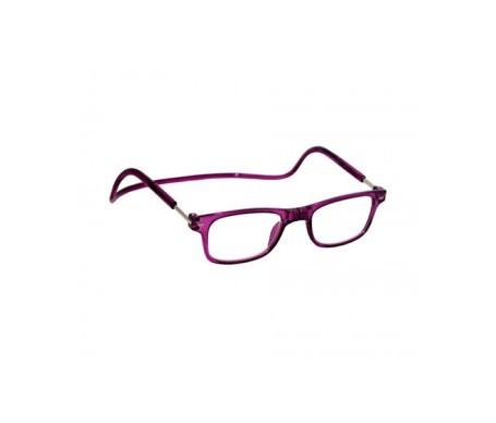Magnética gafa de lectura +2.50 color violeta 1ud