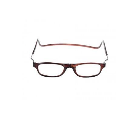 Magnética gafa de lectura +2.50 color marrón 1ud