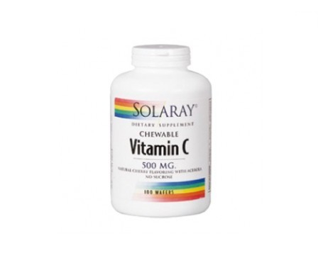 Solaray Vitamin C 500mg 100comp. masticables cereza