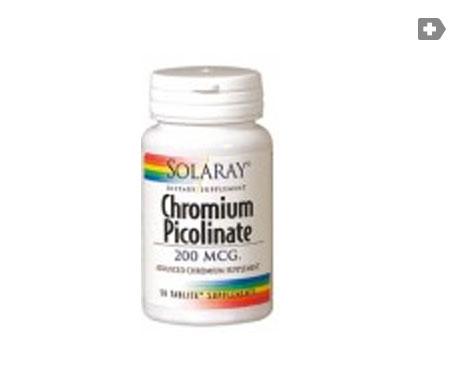 Solaray Chromium Picolinate 200 50 tabletas