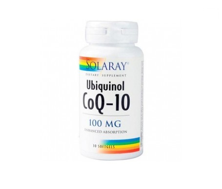 Solaray Ubiquinol Co-Q10 100mg 30 perlas