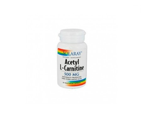 Solaray acetyl l-carnitine 500mg 30cáps