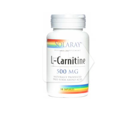 Solaray l-carnitine 500mg 30cáps