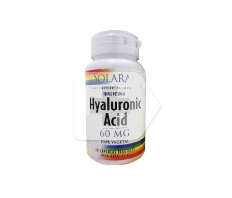 Solaray hyaluronic acid 60mg 30cáps
