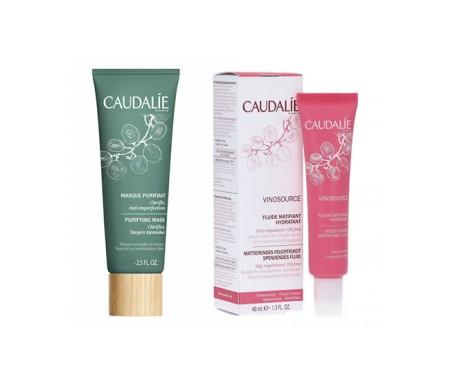 Caudalie pack Vinosource fluido matificante 40ml + mascarilla purificante 50ml regalo