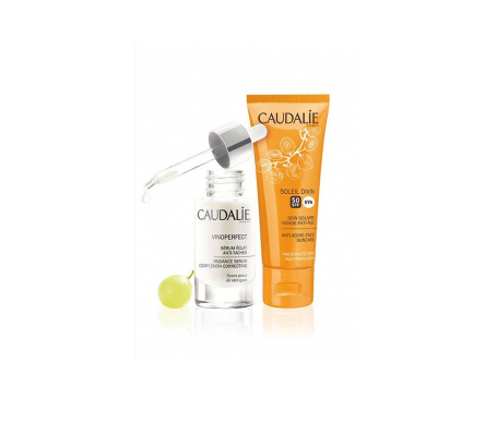 Caudalie Pack Vinoperfect protector facial antiedad SPF50+ 40ml + sérum antimanchas 30ml