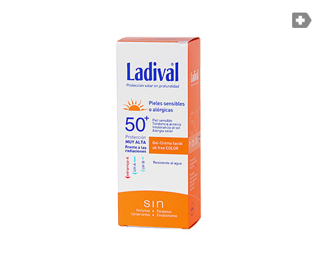 Ladival® gel-crema facial SPF50+ con color  50ml