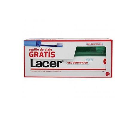 Lacer gel dentífrico 125ml + cepillo de viaje 1ud GRATIS