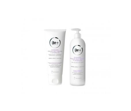 Be+ pack gel baño sin jabón 400ml +  crema facial y corporal hidratante 400ml
