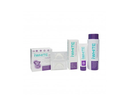 Iwhite pack Instant molde dental 10uds + pasta 75ml + colutorio 500ml