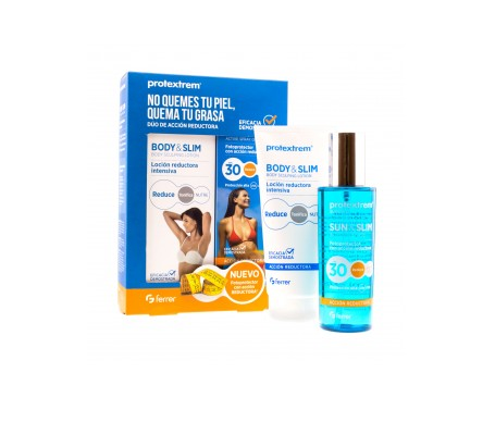 Protextrem® Sun&Slim SPF30+ acción reductora 200ml + Body&Slim 150ml