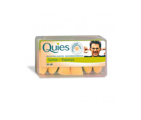 Quies tapón espuma color carne 6uds