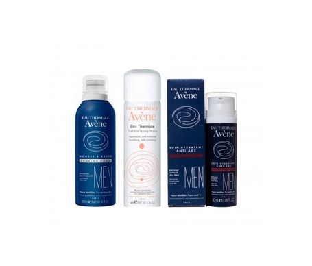 Avène Men espuma de afeitar 200ml + hidratante antiedad 50ml + Regalo