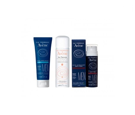Avène Men bálsamo para después del afeitado 75ml + hidratante antiedad 50ml + Regalo