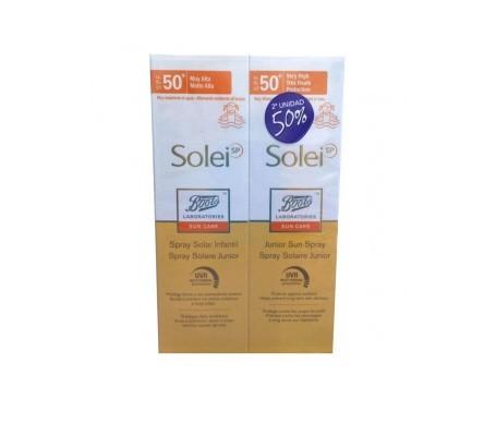 Solei spray solar infantil SPF50+ 150ml+150ml