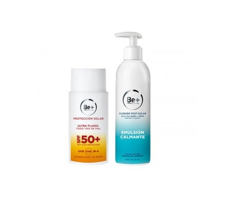 Be+ fotoprotector ultra fluido SPF50+ 50ml + Be+ emulsión cuidado postsolar 250ml