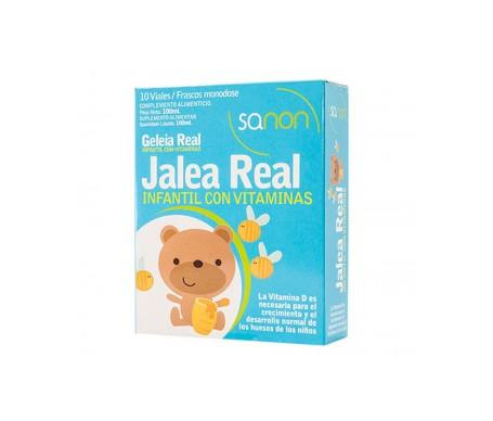 Sanon jalea real infantil con vitaminas 10 viales