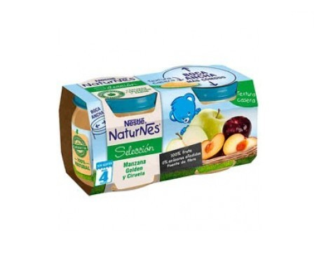 NaturNes manzana golden y ciruela 200g+200g