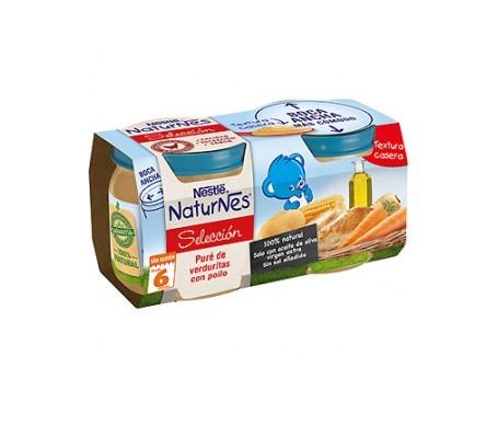 NaturNes puré verduritas y pollo 200g+200g