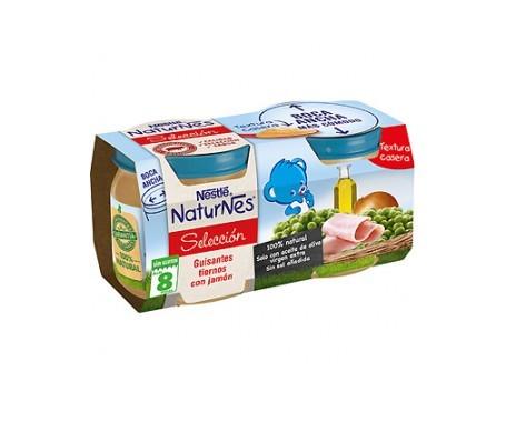 NaturNes puré guisantes tiernos y jamón 200g+200g