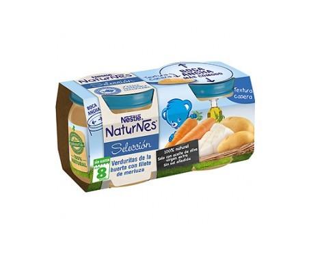 NaturNes puré verduritas  y merluza 200g+200g