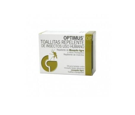 Optimus® repelente insectos toallitas 12uds