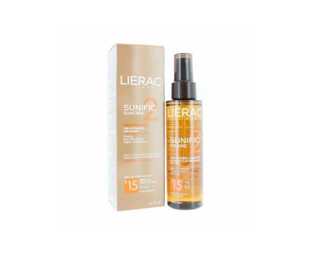 Lierac Sunific 2 huiles sèches pour le corps SPF15 125ml