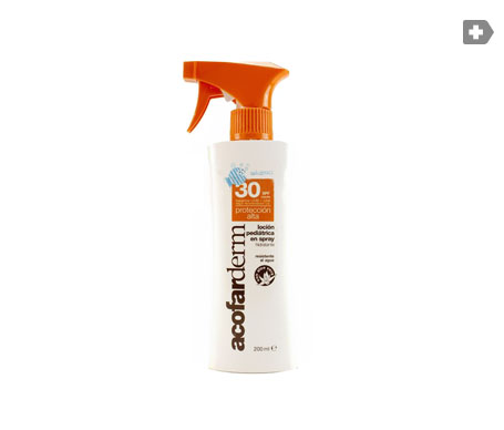 Acofarderm loción pediátrica spray SPF30+ 200ml