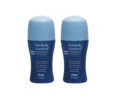 Lambda Control® emulsión desodorante roll on 50ml+50ml