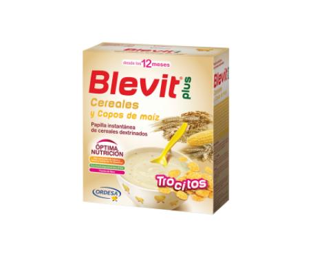 Blevit Plus Trocitos cereales copos de maíz 600g