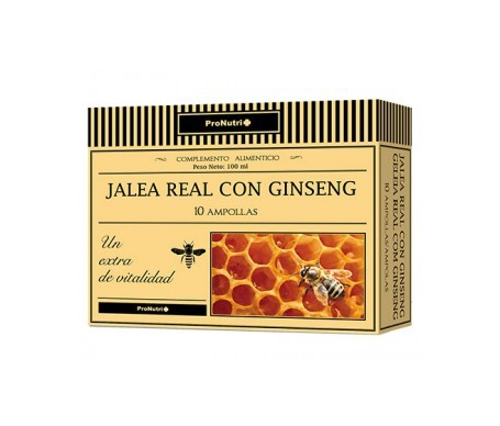 Pronutri jalea real con ginseng 10amp