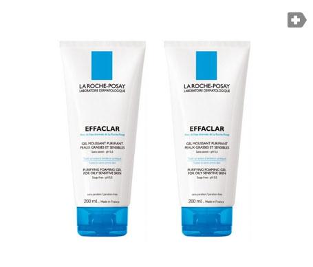 La Roche-Posay Effaclar gel mousse 200ml+200ml 2ªud 25% dto.