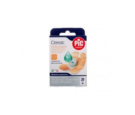 PiC Classic apósito adhesivo con bactericida 19x72mm 20uds