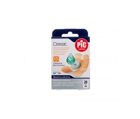PiC Classic apósito adhesivo surtido con bactericida 20uds