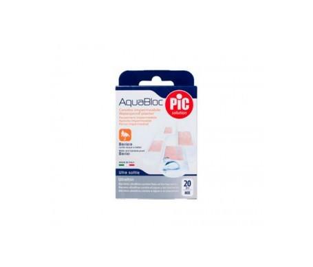 PiC Aquabloc con bactericida apósito adhesivo surtido 20uds
