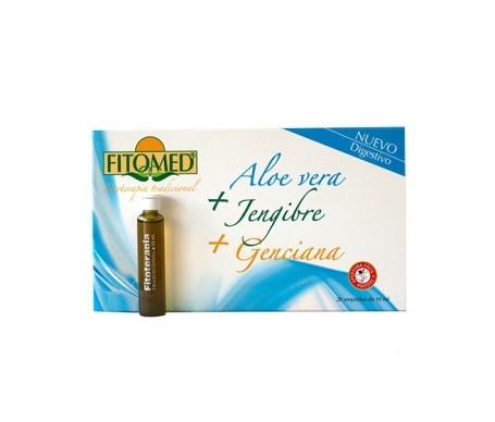 Fitomed® aloe vera + jengibre + genciana 20amp