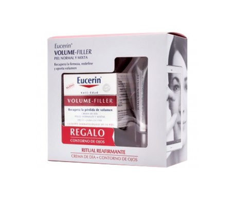 Eucerin® Pack Volume-Filler crema de día piel normal o mixta 50ml + contorno de ojos 15ml
