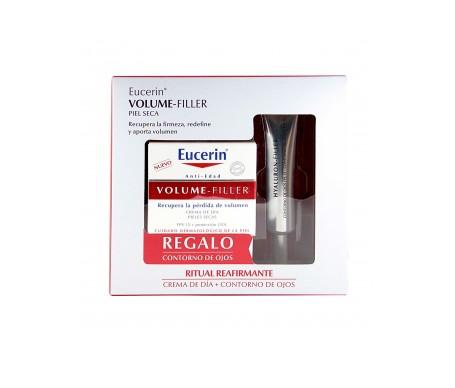Eucerin® Pack Volume-Filler crema de día piel seca 50ml + contorno de ojos 15ml