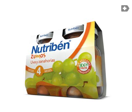 Nutribén® zumo de uva y zanahoria 2x130ml