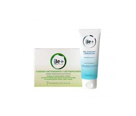 Be+ cuidado antioxidante y detoxificante crema hidratante 50ml + Be+ gel espuma limpiador 200ml