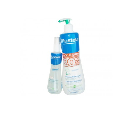 Mustela Bebé gel dermolimpiador 750ml + colonia 200ml